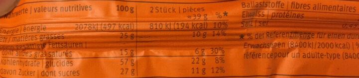 Biscuit Yogourt/Abricot Sandwich - Nutrition facts - fr