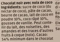 Migros Sélection - Ingredients