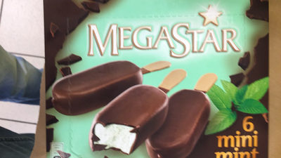Crèmeglacée à la mente enrobée de chocolat - Product
