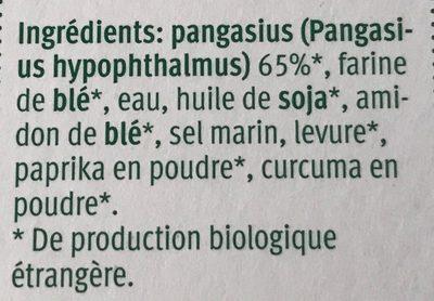 Bio Batonnets de pangasius - Ingredients - fr
