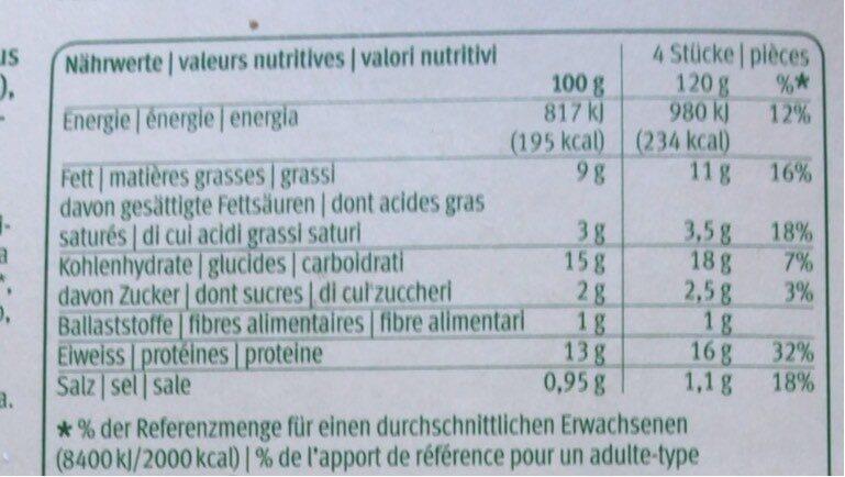 Bio Batonnets de pangasius - Nutrition facts - fr