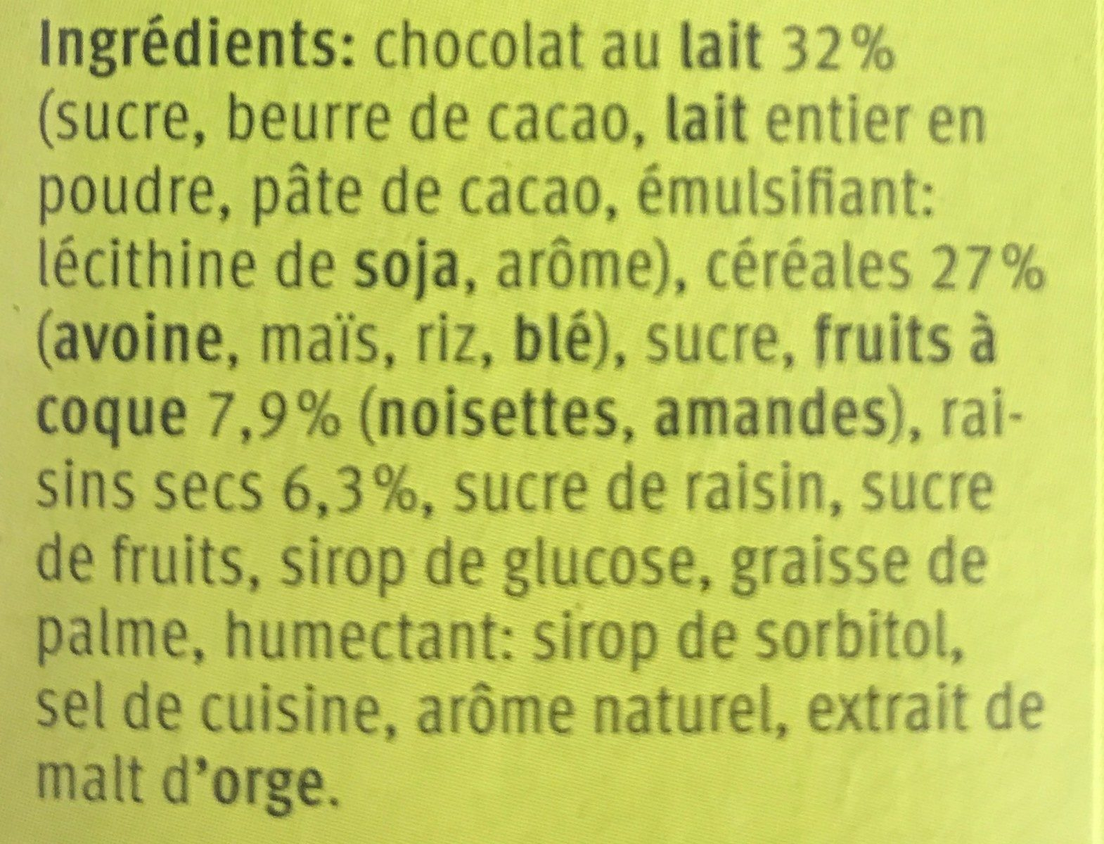 Farmer Tourist, Soft Choc - Ingredients