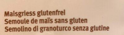 Polenta Semoule de maïs fine - Ingredienti - fr