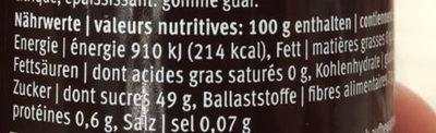 Satin Framboises - Maracuja - Informazioni nutrizionali - fr