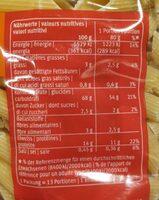 Teigwaren, Hartweizen - Nutrition facts