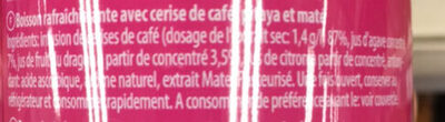 IceTea Pitaya & Maté - Ingredients - fr
