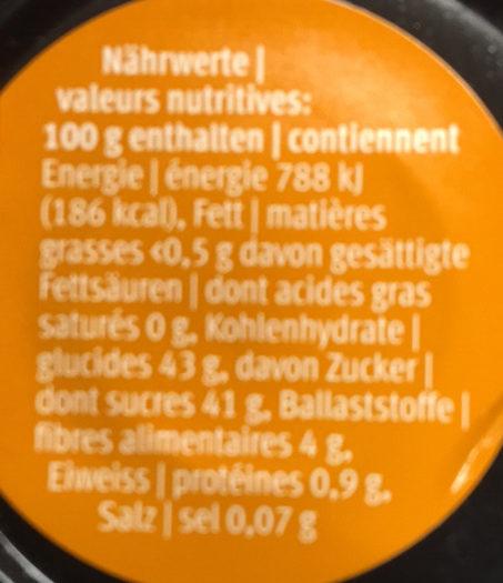 Les intenses - Informations nutritionnelles - fr