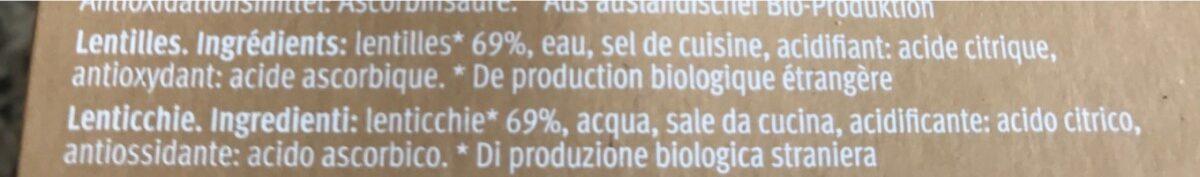 Lentilles noires - Ingredients - fr