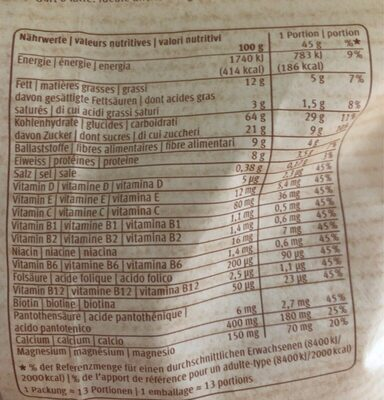Crunchy Mix - Nutrition facts