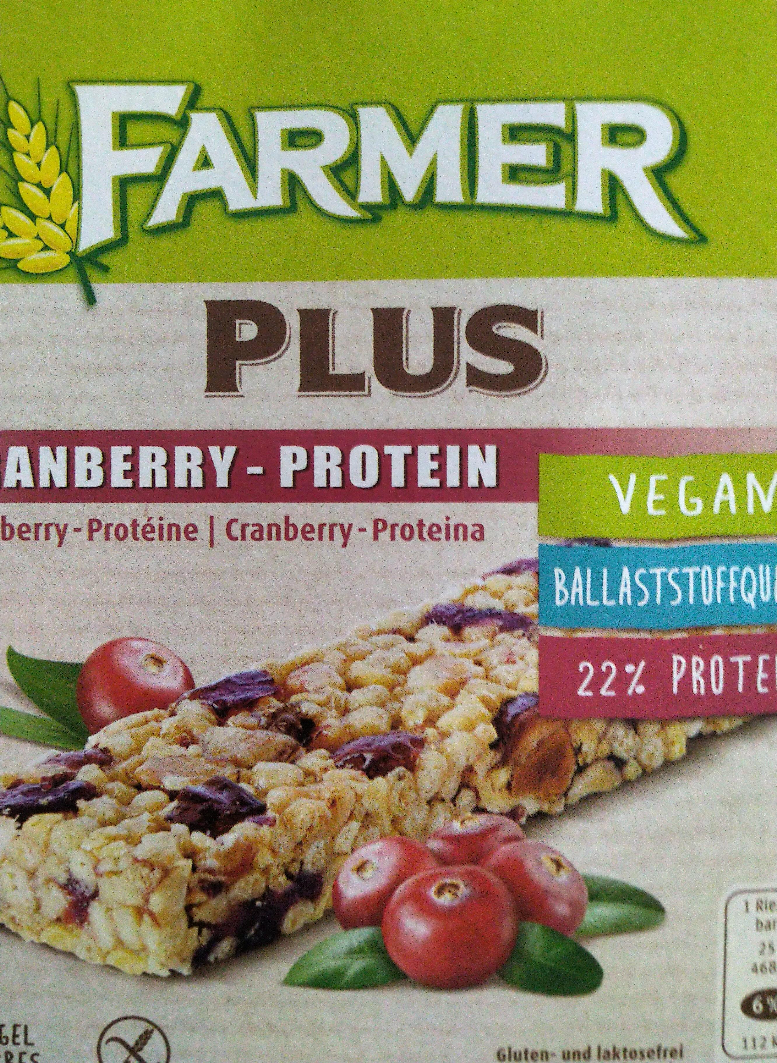 Farmer Plus Cranberry - Protein - Produit - fr