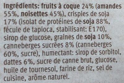 Farmer Plus Cranberry - Protein - Ingrédients - fr