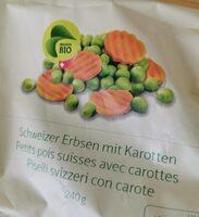 Petits pois suisses avec carottes - Produit