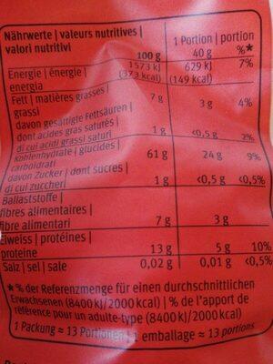 Schweizer Vollkorn Haferflocken - Nutrition facts - de