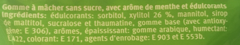 Spearmint - Ingrédients - fr