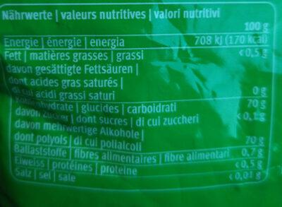 Spearmint - Informations nutritionnelles - fr