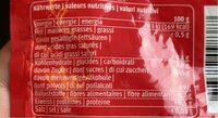 Gomme à mâcher - Informations nutritionnelles - fr
