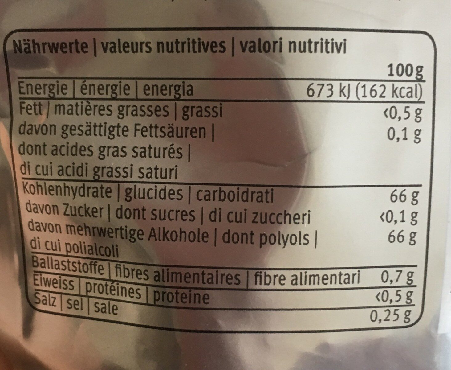 M Classic Dental Peppermint - Informations nutritionnelles - fr