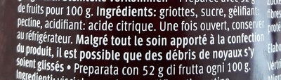 Favorit griottes - Ingredients