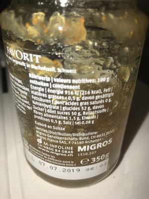 Figues Favorit les spécialités - Informations nutritionnelles - fr