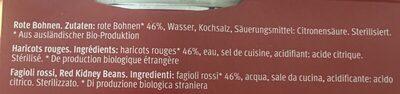 Migros Bio M classic Red Kidney Beans - Ingredienti - fr