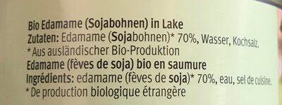 Fèves edamame - Ingredients - fr