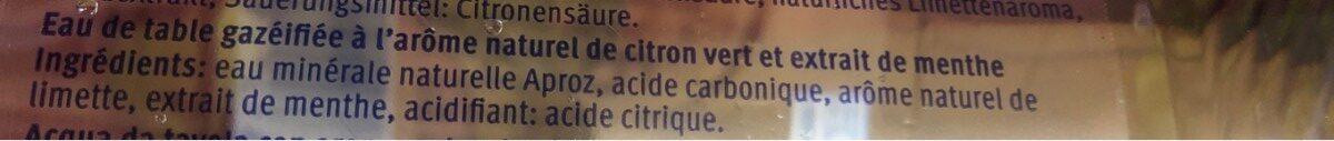 Aproz Mint-lime Mit Kohlensäure - Ingredients
