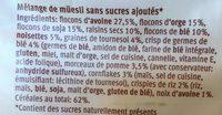 Farmer bircher - Ingredients