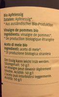 Apfelesdig - Vinaigre de pommes - Aceto di mele - Ingredients - fr