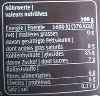 Cafino - Valori nutrizionali - fr