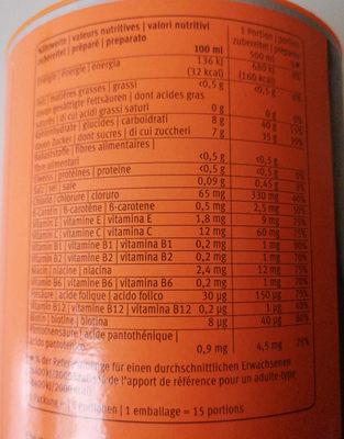 Isodrink Orange - Informazioni nutrizionali - fr
