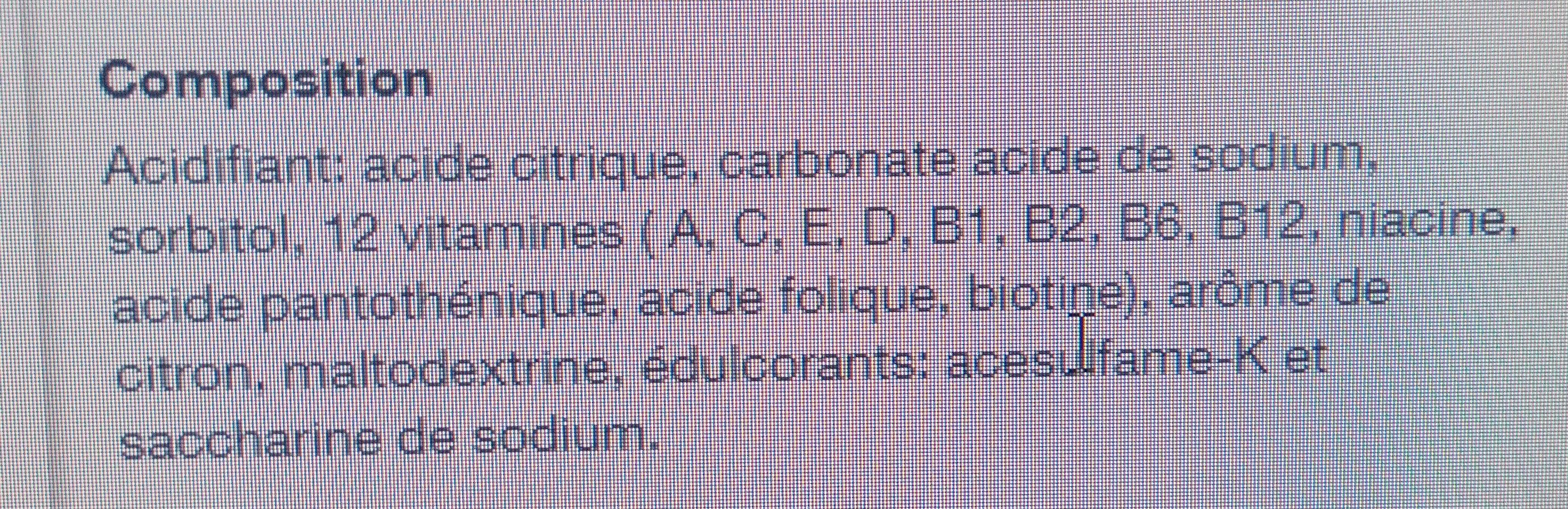 Multivitamin - Ingredienti - fr