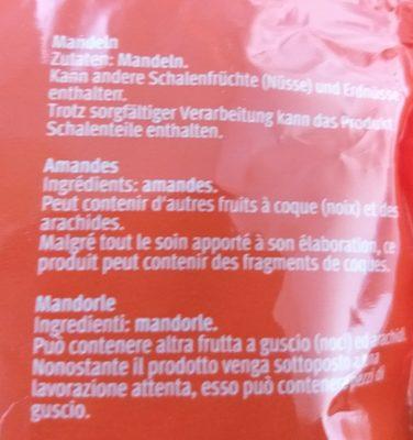 Amandes - Ingrediënten