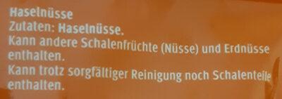 Noisettes - Zutaten - de