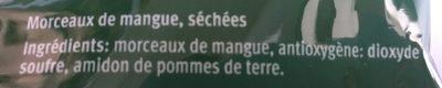 Mangoschnitze Getrocknet - Ingrédients - fr