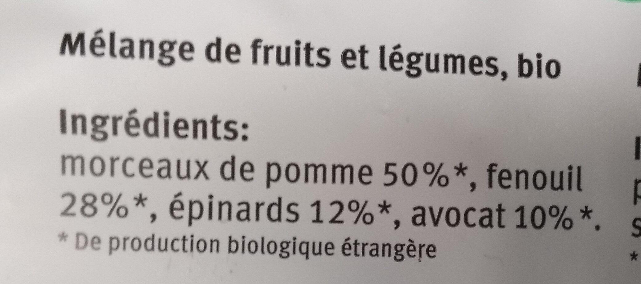 Smoothie Green - Ingredients - fr