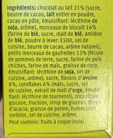 Choc Biscuit - Ingrédients