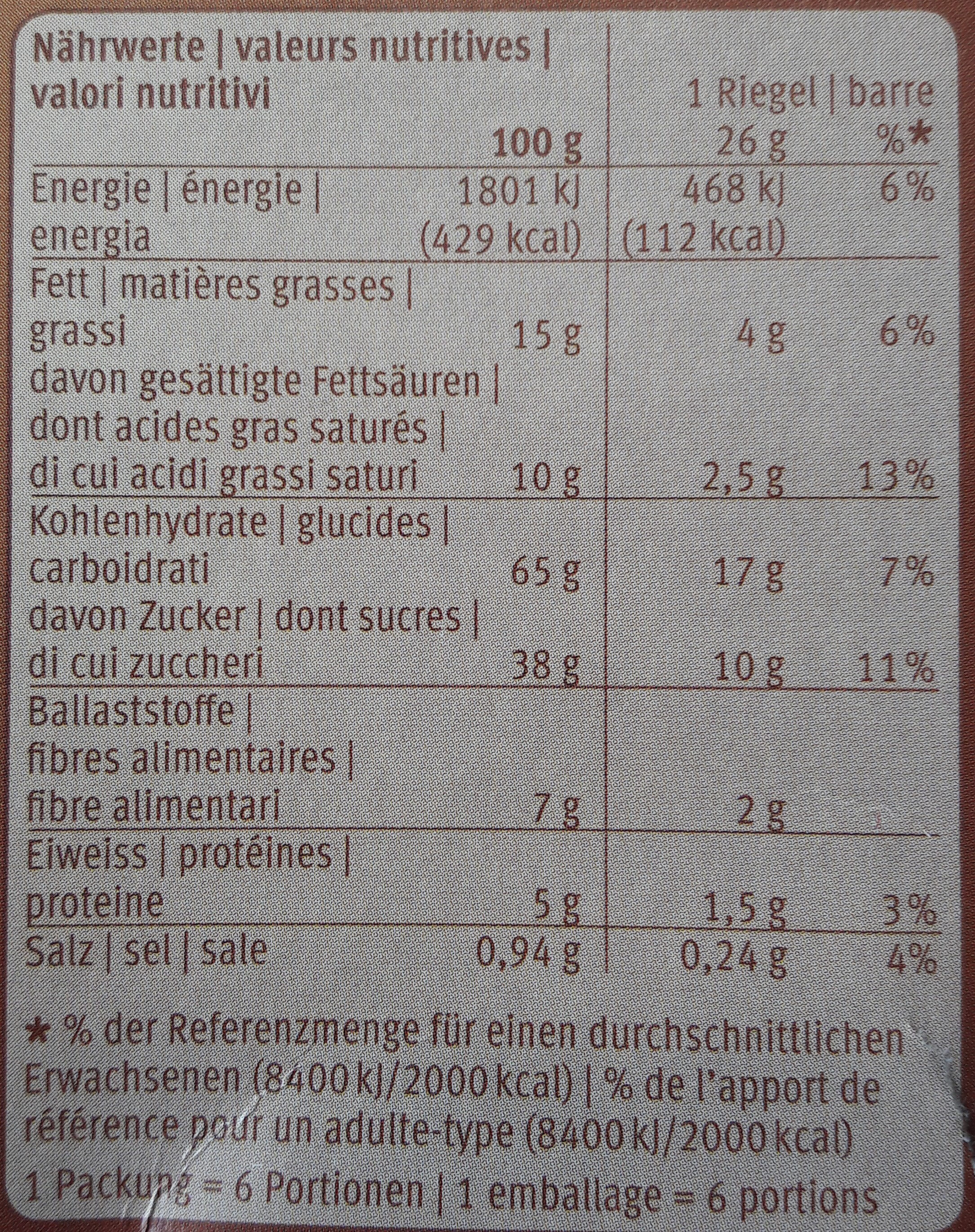 Choc Biscuit - Informations nutritionnelles