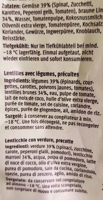 Lentilles aux légumes - Ingrediënten - fr