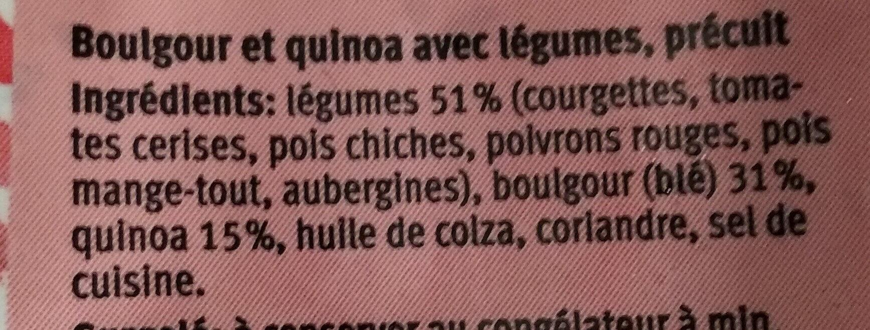 Bulgur & Quinoa mit gemüse - Ingredients - fr