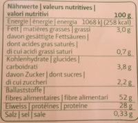 Safran et bolets en poudre - Voedingswaarden - fr