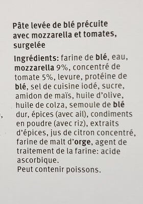 Pizza Margherita - Ingredients