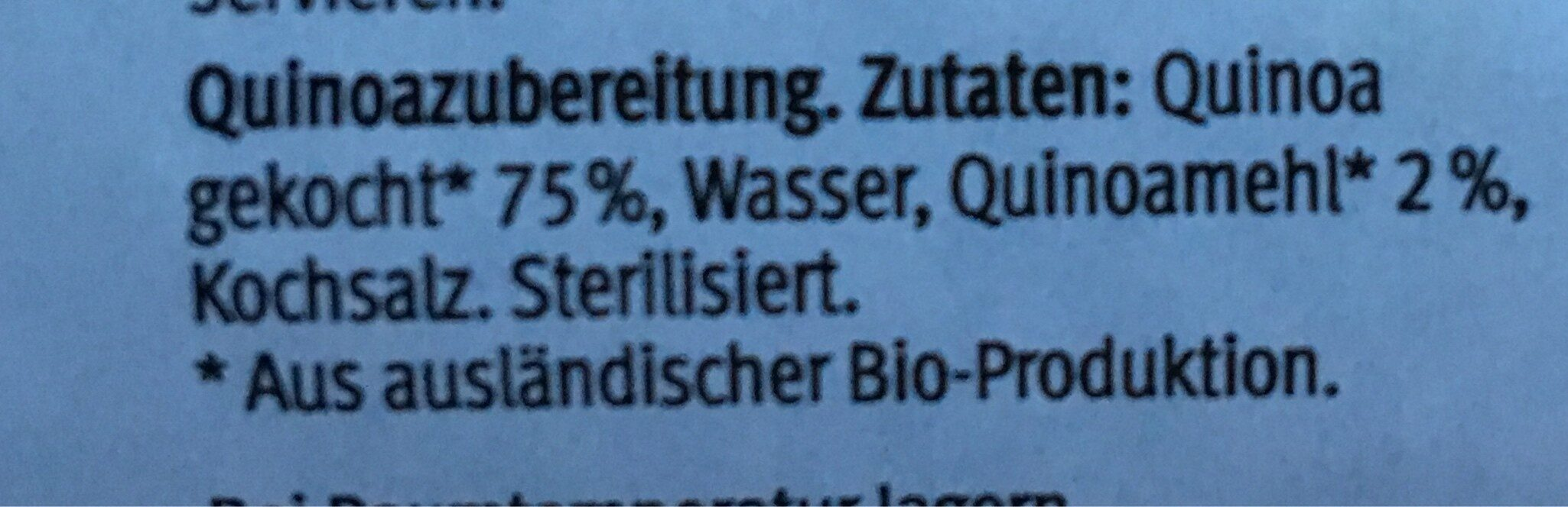 Quinoataler - Ingrediënten - fr