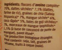 Mango Goji Porridge - Ingrediënten - fr