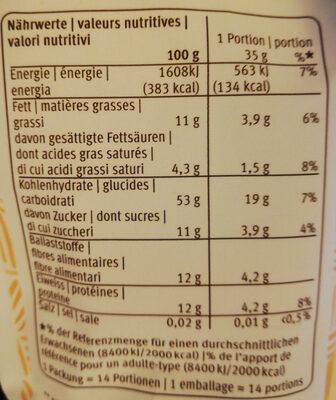 Mango Goji Porridge - Voedingswaarden - fr
