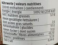 Glassa Con Aceto Balsamico - Valori nutrizionali - fr