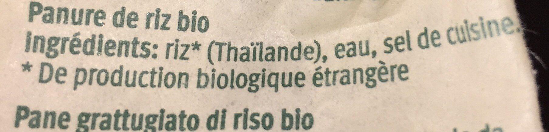 Panure de riz - Ingredienti - fr