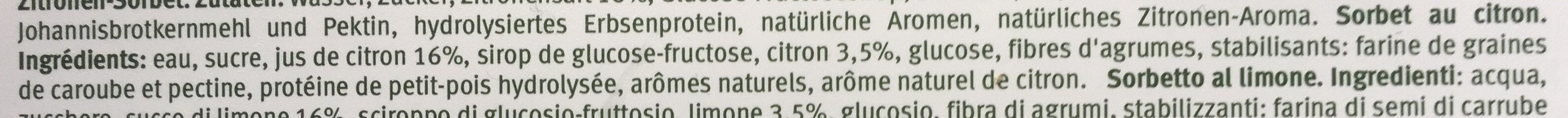 Le sorbet citron - Ingredienti - fr