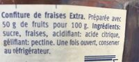 Extra Confiture fraise - Ingredienti - fr