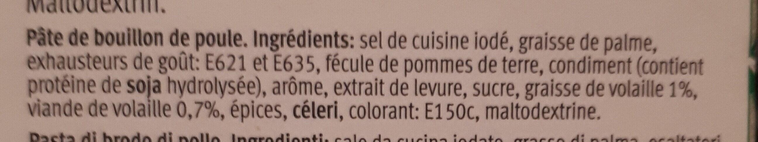Bouillon de poule - Ingredienti - fr