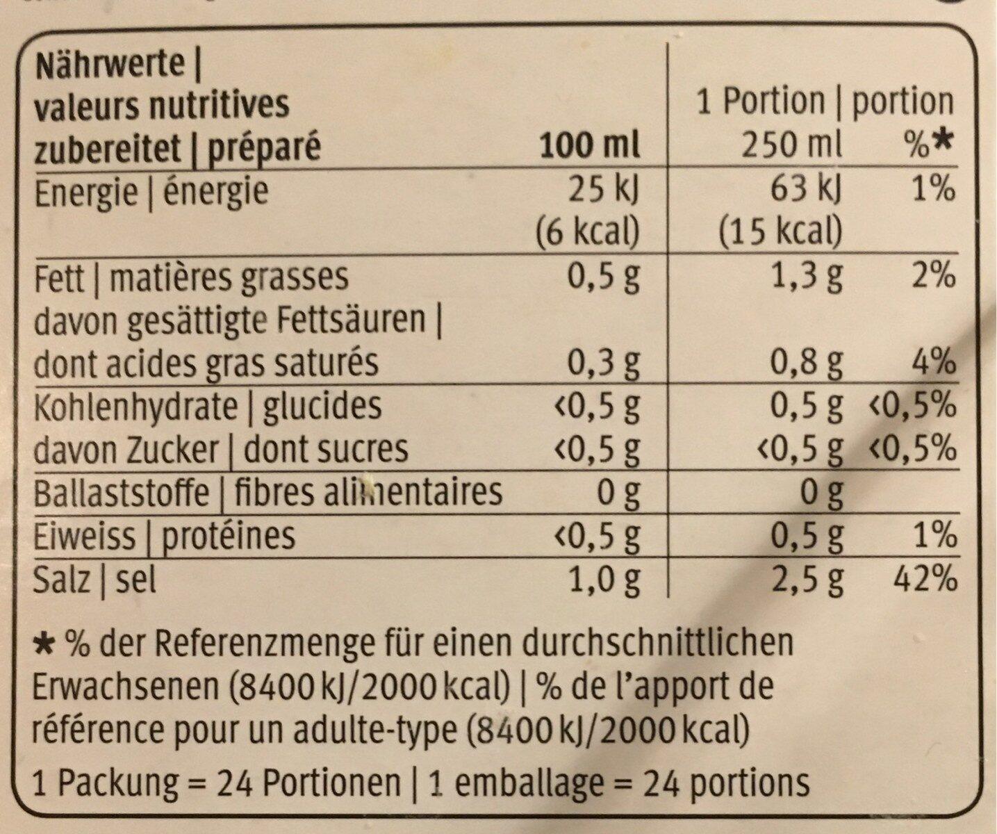 Bouillon de poule - Informazioni nutrizionali - fr